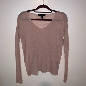 Forever 21 long sleeve pink sweater sz S